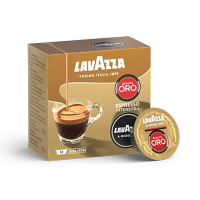 qualit oro a modo mio espresso coffee capsules lavazza. Black Bedroom Furniture Sets. Home Design Ideas